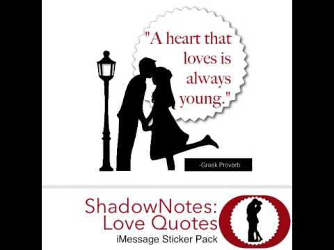 iMessage Love Quotes Sticker Pack: ShadowNotes.