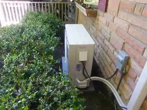 Senville 18000 completed professional install - outside unit - YouTube