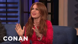 Isla Fisher On Being Married To & Dealing With Sacha Baron Cohen - CONAN on TBS - CONAN on TBS