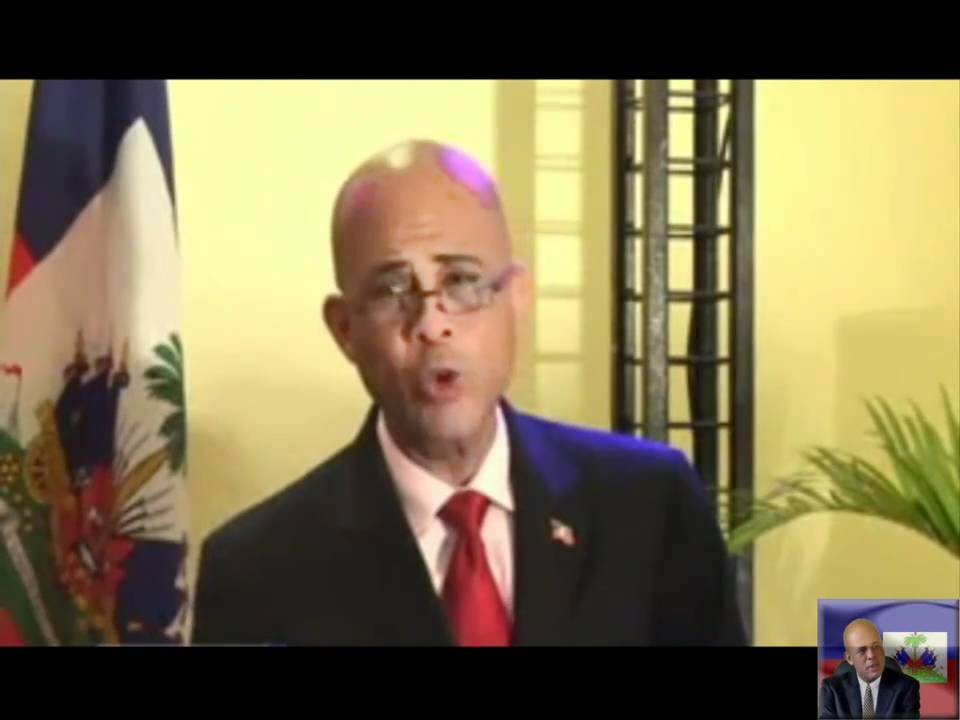Michel martelly message on end of campaign youtube - Matin caraib es ...