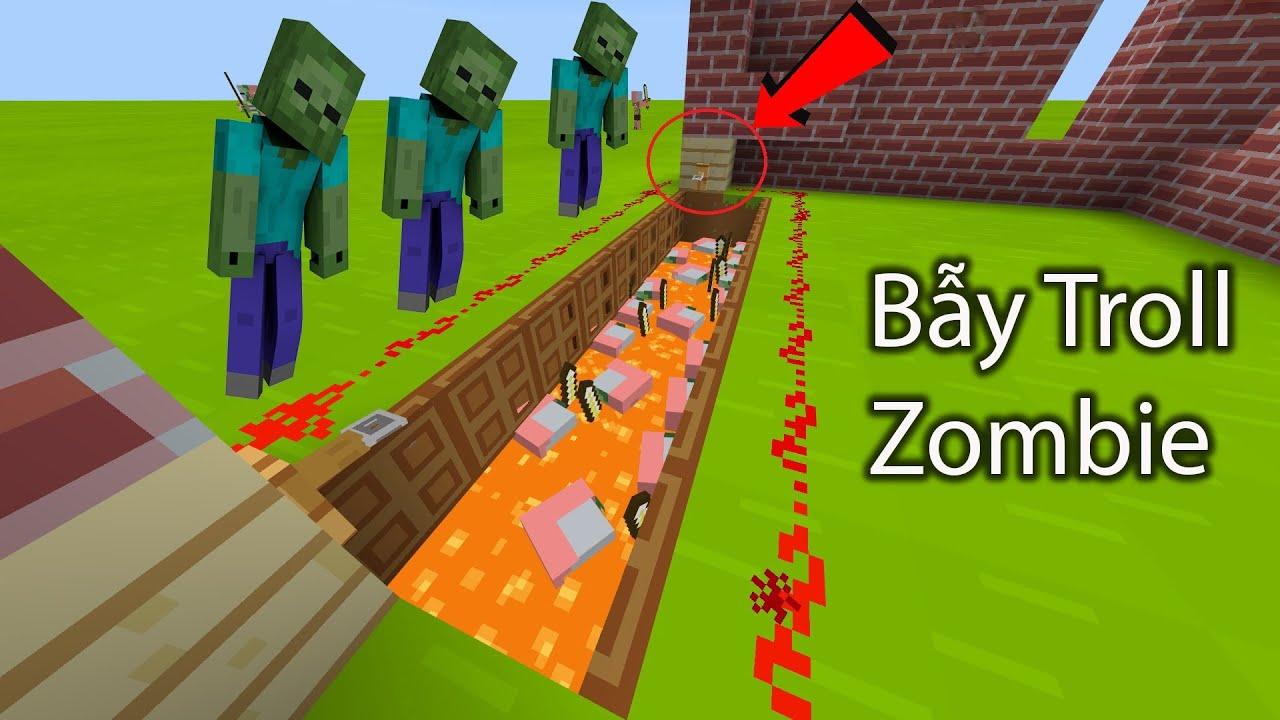 SIREN HEAD MINECRAFT [ BẢO VỆ NHÀ BẰNG BẪY TROLL ZOMBIE ] Traps Kill Zombies