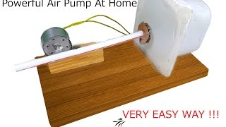 █ How To Make Air Pump At Home █