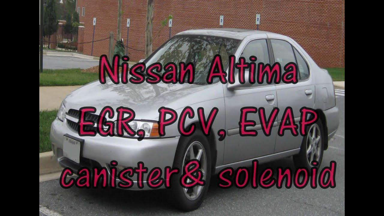 Nissan Altima Emissions  Pcv Valve  Egr Valve  Evap