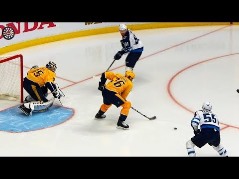 Connor makes amazing move, Scheifele slams goal past Rinne