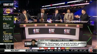 2019 NBA Draft LIVE | Knicks select RJ Barrett and Lakers select De'Andre Hunter with #3,4 pick