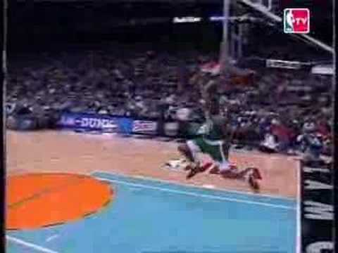 NBA Slamdunk 1996 Contest Highlight Brent Barry