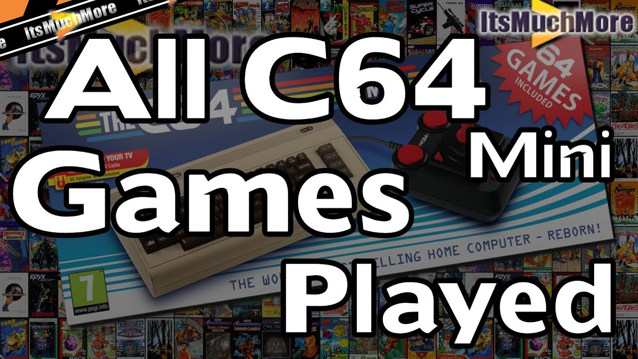 The C64 Mini - All 64 Games Played [Commodore 64]