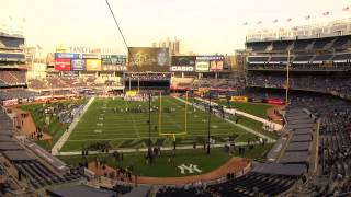 Army Football: Time Lapse of Army/UConn at Yankee Stadium 11-8-14
