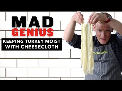 How To Keep Your Turkey Juicy Using Cheesecloth   Mad Genius Tips   Food & Wine
