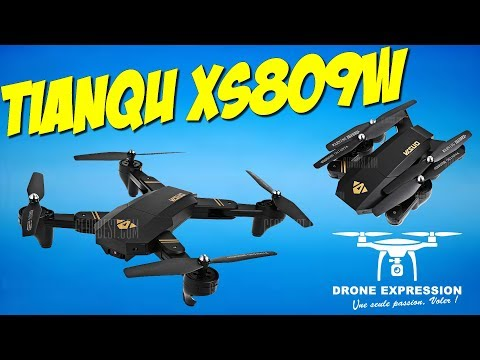 PRESENTATION UNBOXING REVIEW FLIGHT TEST TIANQU XS809W MAVIC DESIGN DRONE GEARBEST DRONE EXPRESSION