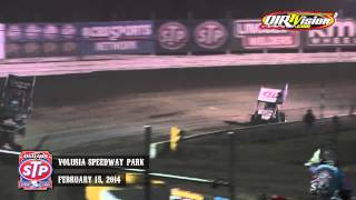 Highlights: World of Outlaws STP Sprint Cars Volusia Speedway Park February 15th, 2014