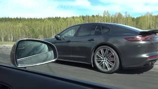 Audi R8 Coupé V10 525 HP vs Porsche Panamera Turbo 550 HP [4k]