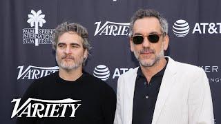 'Joker' Star Joaquin Phoenix Gives Directing Award to Todd Phillips