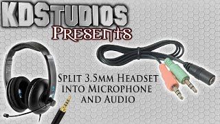How to get Microphone and Sound from Single 3.5mm Headsets (Wii U Headset) - Quick Tip