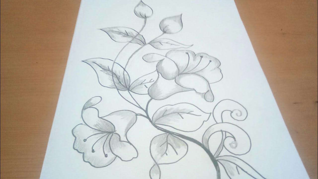 Sketsa Bunga Batik Cantik 1 Youtube