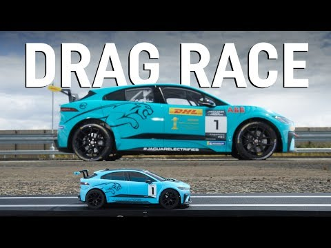 Scalextric car vs racing car drag race – which is quicker?