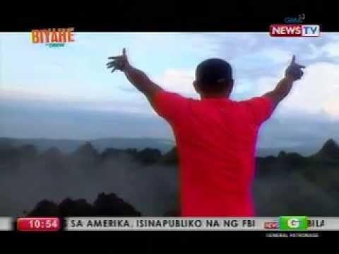 Drew Arellano catches the sunrise at Osmena Peak, Cebu
