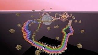 Pig Race Rainbow Road! (Карта minecraft для забега)