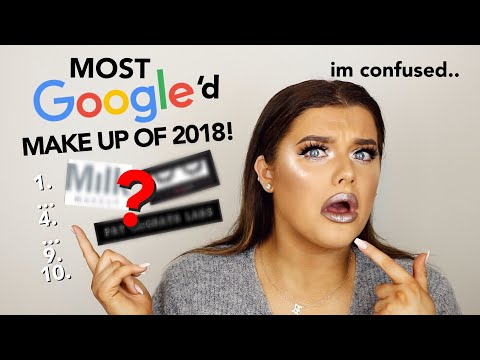 FULL FACE OF THE MOST GOOGLED MAKE UP OF 2018! | Rachel Leary