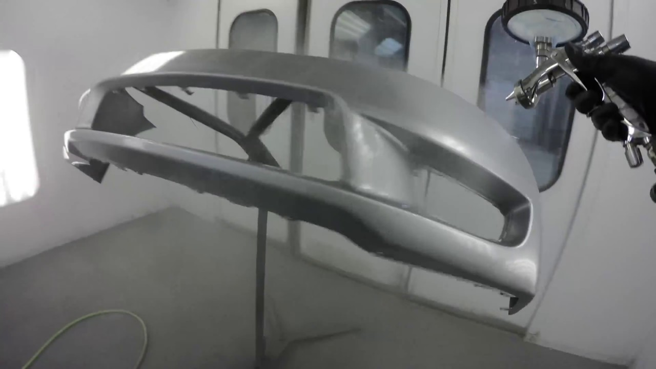 How To Spray Car Paint Base Clear Silver Metallic