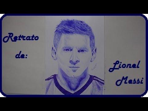 Dibujando a Lionel Messi  speed portrait  YouTube