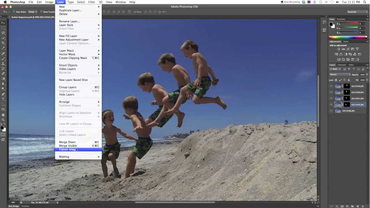 GoPro Hero3 Burst Tutorial: How To Make A Sequence In Photoshop ...