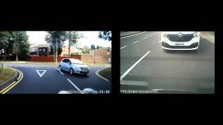 Van Driver tries repeatedly to cause accidents