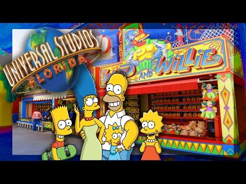 Playing Carnival Games At The Universal Studios Simpsons Fair | Carnival Quest