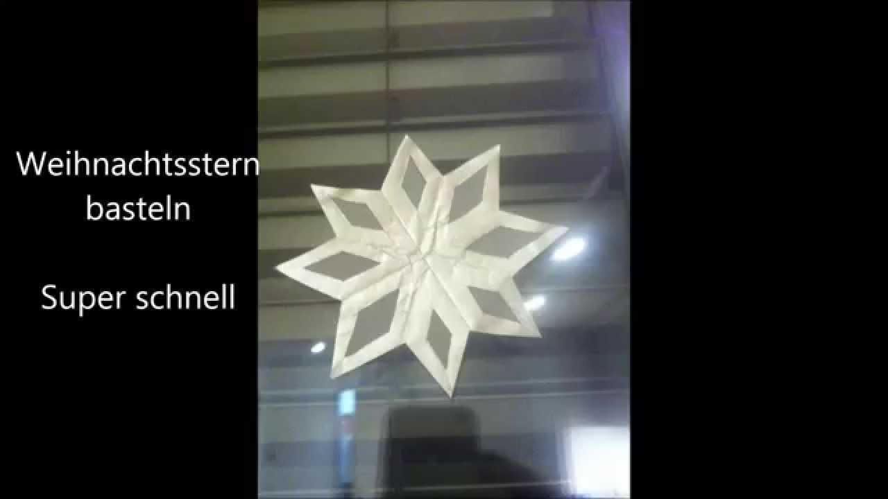 Weihnachtsstern basteln super schnell aus papier for Fensterdeko weihnachten basteln papier