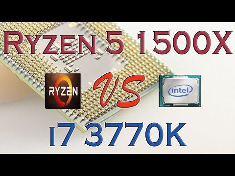 RYZEN 5 1500X Vs I7 3770K - BENCHMARKS / GAMING TESTS REVIEW AND COMPARISON / Ryzen Vs Ivy Bridge