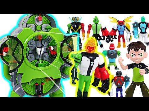 Mixed and transform! Ben 10 Alien Creation Chamber! Defeat the villains, dinosaurs! - DuDuPopTOY