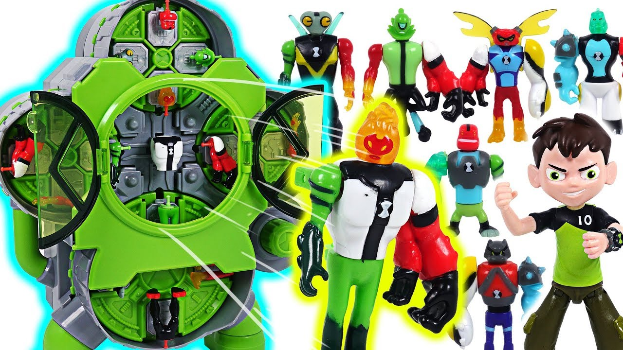 Mixed and transform! Ben 10 Alien Creation Chamber! Defeat the villains, dinosaurs! - DuDuPopTOY