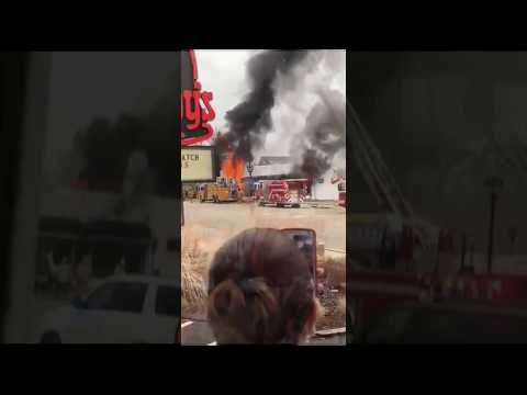 Bridal Shop in Elmhurst, Illinois, Erupts In Flames