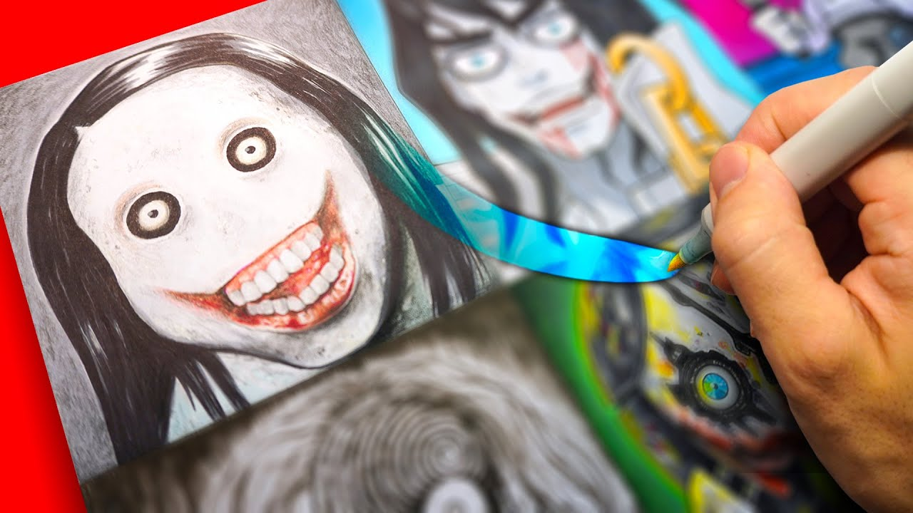Drawing JEFF THE KILLER in Different Styles (SCARY)