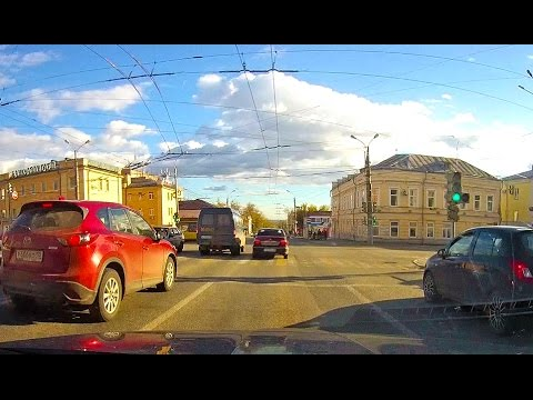 Driving Downtown - Izhevsk city - Udmurt Republic Russia