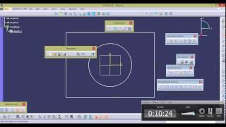 CATIA VIDEO TUTORIALS-5-SKETCHER-1