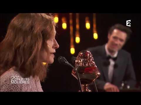Isabelle Huppert reçoit un Molière d'honneur - 29ème cérémonie des Molières