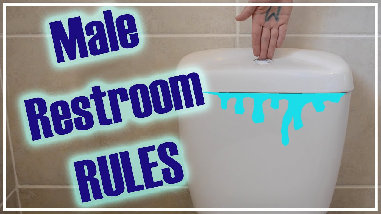 8 male restroom rules for all men and women youtube for Male bathroom etiquette