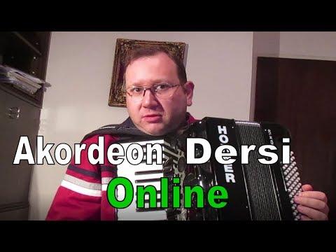 Akordeon Dersi Online Başladı -  Facebook Skype Canlı Görüşme