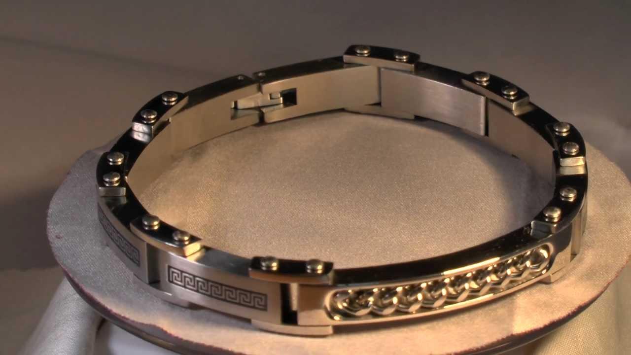 bracelet pour homme acier et or www e. Black Bedroom Furniture Sets. Home Design Ideas