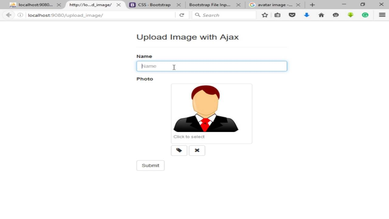 How to upload php form image with ajax youtube falaconquin