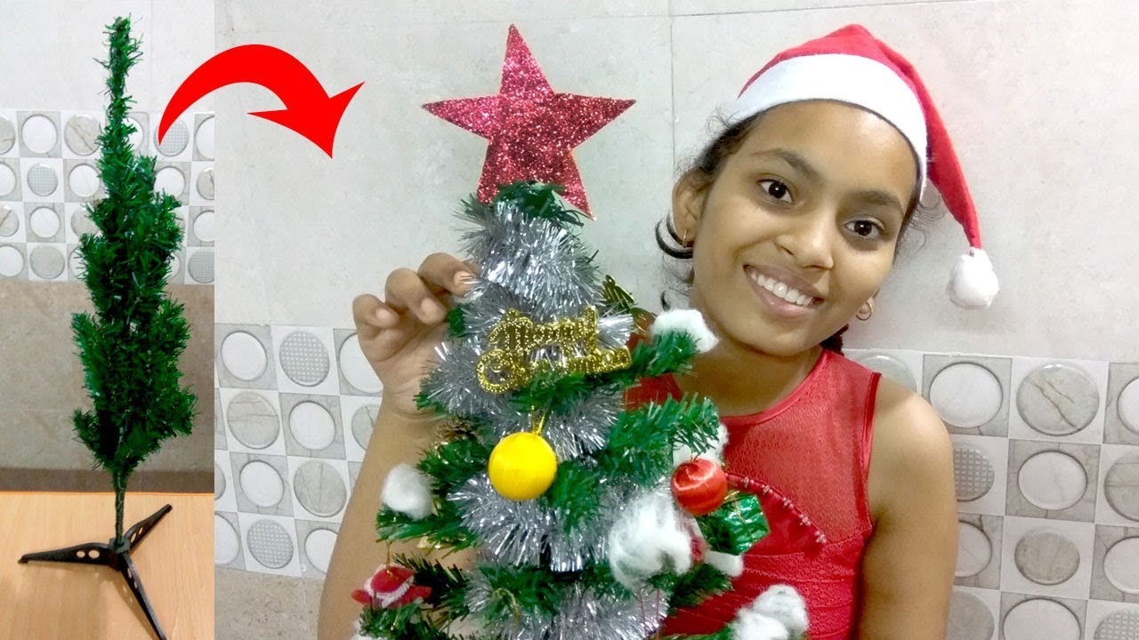 How to decorate the Christmas tree | how to decorate Christmas tree step by step
