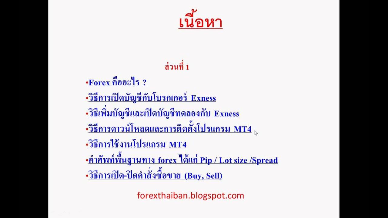 สอน forex ฟรี เข้าใจง่าย