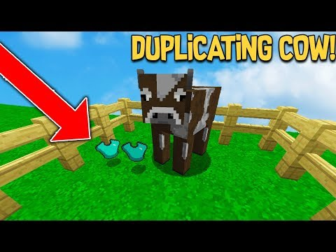 MAKING PLAYERS BELIEVE THIS COW DUPLICATES ITEMS ON MINECRAFT...