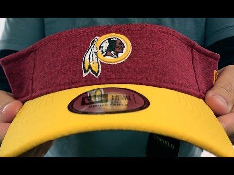8a168d69 Washington Redskins 18 NFL STADIUM Burgundy-Gold Visor by New Era
