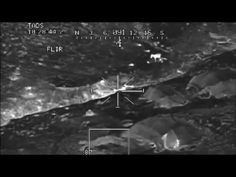 Iraq Apacche helicopter kills with flir night vision drone like footage
