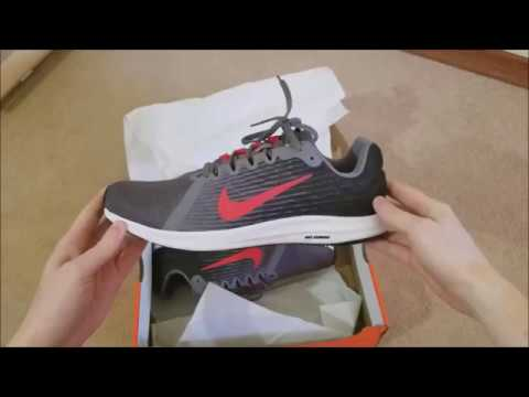get cheap 176ac ca010 Nike Downshifter 8 sneakers   Black-Grey-Red   Unboxing and Fitting
