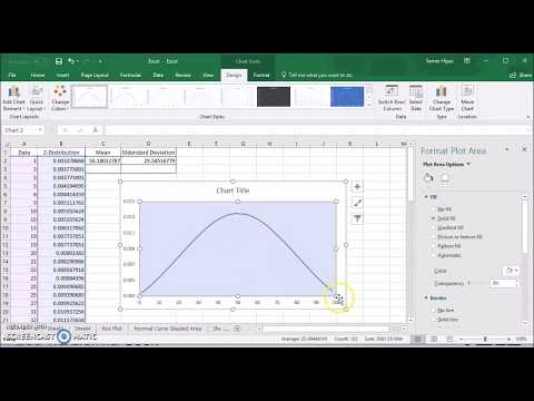 Creating Normal Curve (Bell Shape Curve) In Excel 2016 (Office 365) Not Shaded