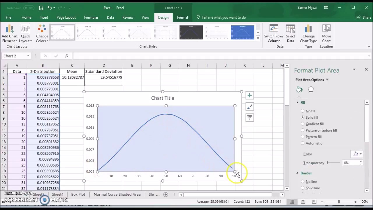 Creating Normal Curve Bell Shape Curve In Excel 2016 Office 365