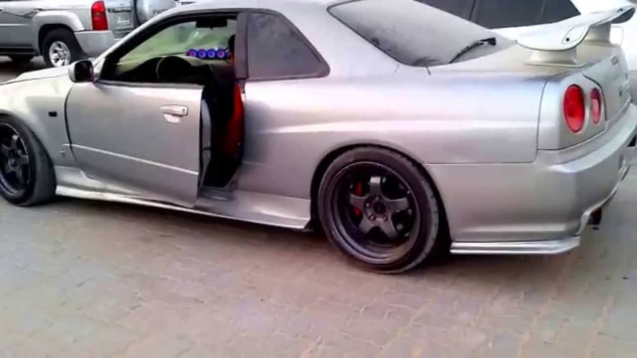 Nissan Skyline R34 600hp Backfire